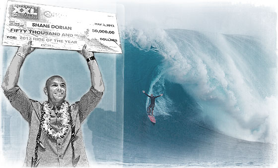 Dorian and Dollar Dominate at Billabong XXL Big Wave Awards 2013