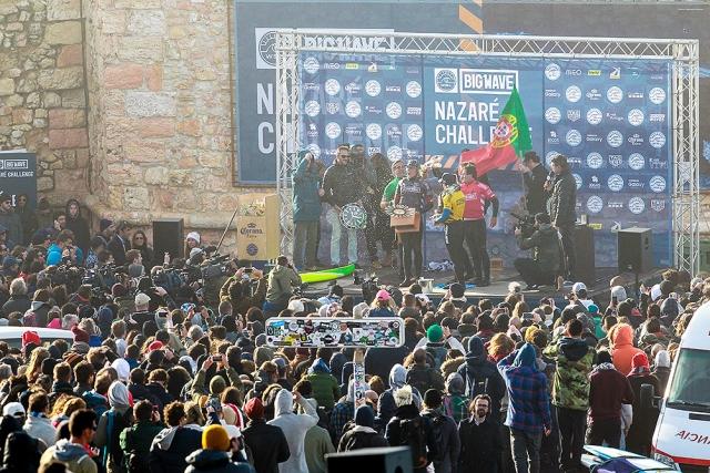 WSL Nazaré Challenge's winner ceremony