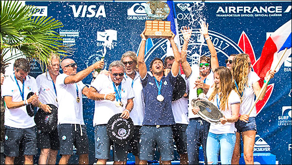 1e5a411161 France celebrates historic Team Victory at ISA World Surfing Games 2017