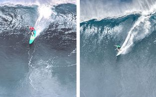 Paige Alms, Ian Walsh , Pe'ahi in Haiku, Maui, Hawaii