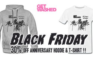 Black Friday: This Friday to Monday, 30% Off at GET WASHED Online Shop