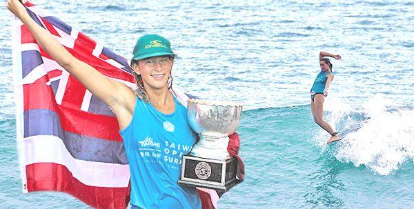 Honolua Blomfield Becomes 2017 Women's World Longboard Champion in Amazing Showdown at Taiwan Open