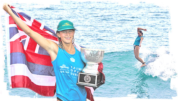 Honolua Blomfield Becomes 2017 Women's World Longboard Champion in Amazing Showdown at Taiwan Open