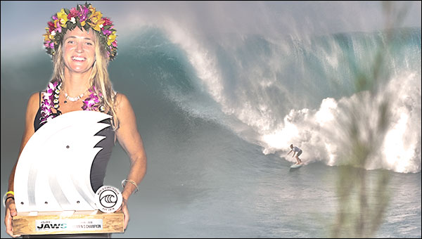 Paige Alms  Wins  at Jaws