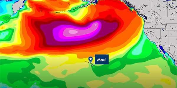 Surfline Forecast for Jaws